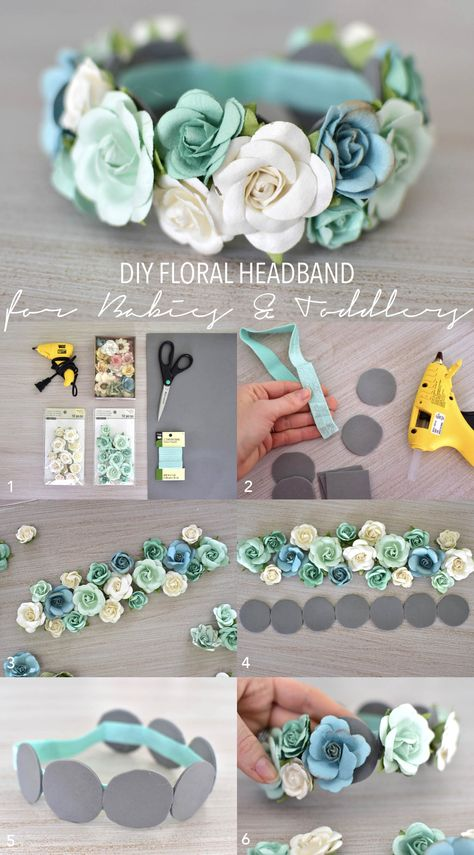 baby hair accessories DIY Floral Headband for Babies and Toddlers theStyleSafari baby clothes baby girl baby headbands baby room baby stuff Diy Baby Headbands, Diy Hair Bows, Floral Headbands, Baby Bows, Handmade Headbands, Headbands For Girls, Baby Headband Tutorial, Tulle Headband, Felt Headband