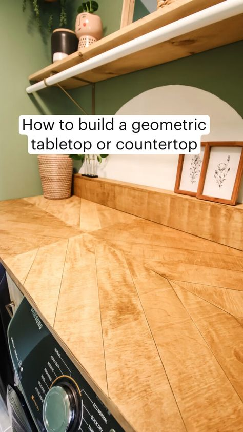 How to build a geometric tabletop or countertop