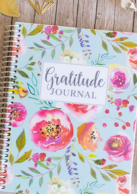 This beautiful Gratitude Journal has room for six months of daily gratitude. It's a pretty and functional way to grow your gratitude practice. It can change your life! #Gorgeous #Gratitude #Journal #beautiful #Daily #Gratitude #Journal #months #room