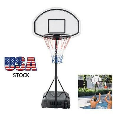 Advertisement Ebay Adjustable Backboard Movable Basketbal Hoop Pool Stand Kid Poolside Swimming Toy Basketball Hoop Swimming Poolside