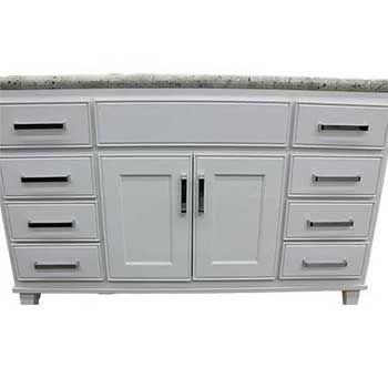 Saratoga White Maple With Legs Vanity Closeout Builders Surplus Wholesale Kitchen And Bathroom Cabinets In Los Angeles California Kitchen Cabinets In Bathroom Vanity Kitchen And Bath