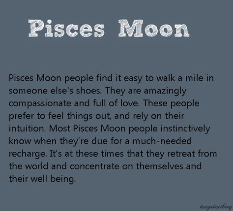 Moon Sign Pisces – The Moon in Pisces