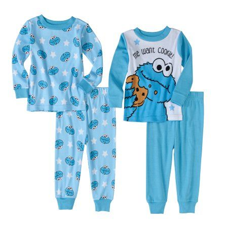 3668ccb6d Sesame Street Newborn Baby Boys  Cookie Monster Cotton Tight Fit ...
