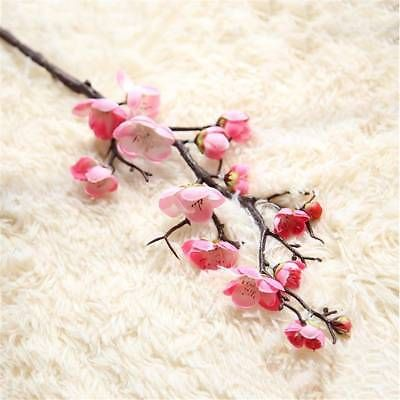 Details About Uk 15 Heads Artificial Cherry Blossom Branch Fake Silk Flower Party Home Decor Artificial Silk Flowers Fake Flowers Artificial Flowers