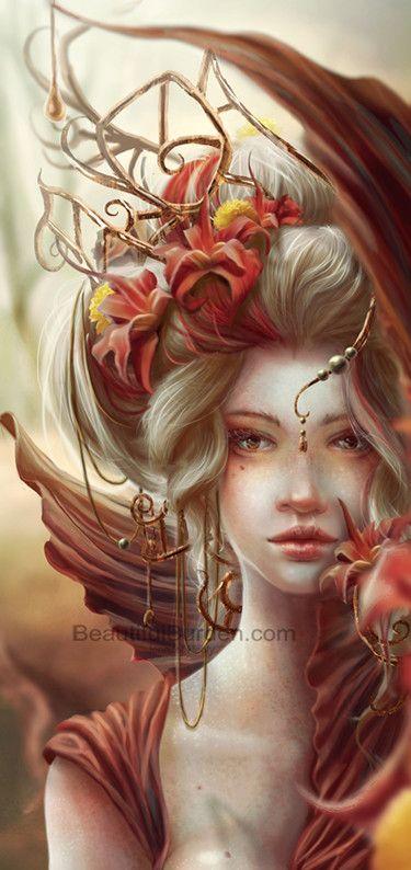 """Beauty Is"" ~ by MyAmbeon (Jennifer Healy) in Digital Painting (software: Adobe Photoshop CS4)"