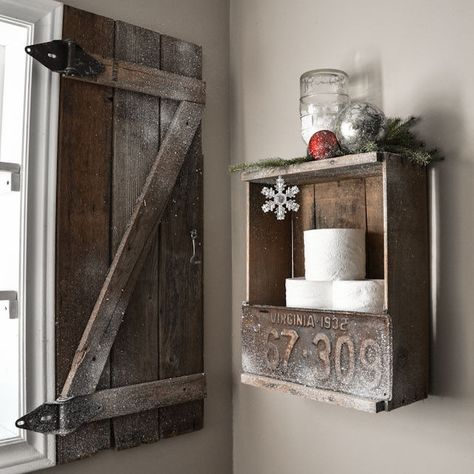 Create a barnwood shutter / part of 5 beautifully unique window treatments you can make yourself, by Funky Junk Interiors for @ebay