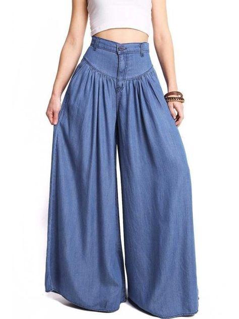 Wide Leg Denim, Wide Leg Pants, Wide Legs, Blue Denim, Ankle Pants, Denim Pants, Harem Pants, Palazzo Pants, Baggy Trousers