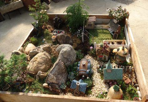 Miniatur Garten Echt Ganuer Dorf Haeuschen Steine Zukunftige