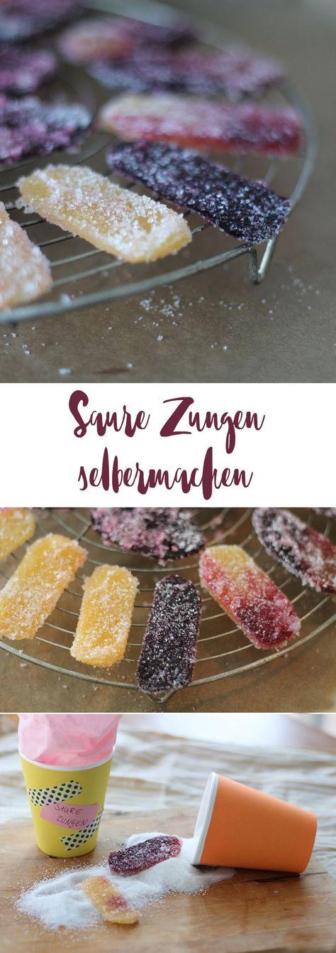 Saure Zungen selbermachen - Rezepte für DIY Sü�igkeiten - saures Fruchtleder