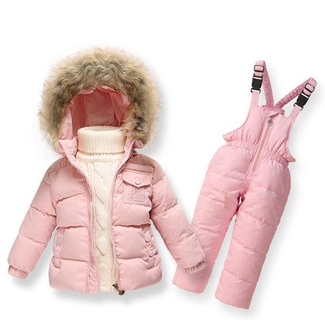 25c5c488b Clearance Winter Girls Clothing Sets Ski Suit Boys Clothes Down Girl ...