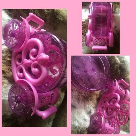 Pink Hamster Gerbil Cinderella Carriage Wheel Run A Bout