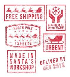 North Pole Postage Stamp Png & Free North Pole Postage Stamp.png  Transparent Images #102841 - PNGio
