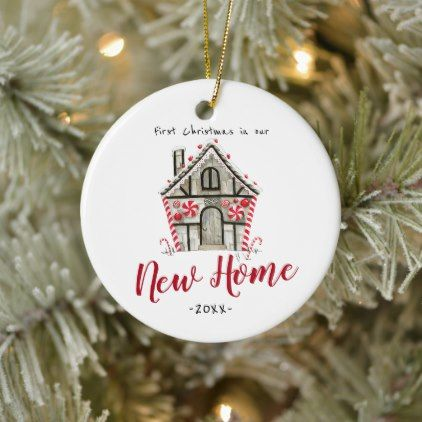 Personalized Our New Home Christmas Ornament Zazzle Com In 2020 Christmas Ornaments Personalized Christmas Ornaments Christmas Ornaments Homemade