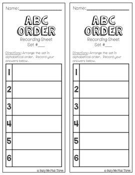 Abc Order To The First And Second Letter Alphabetical Orde Abc Order Abc Lettering