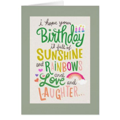 A birthday full of sunshine, rainbows, love, and laughter—we can't think of a better way to wish someone a happy birthday than with this fun hand-lettered card created by Hallmark designer Amanda Raymundo? Check out this exclusive Q&A featured on Think.