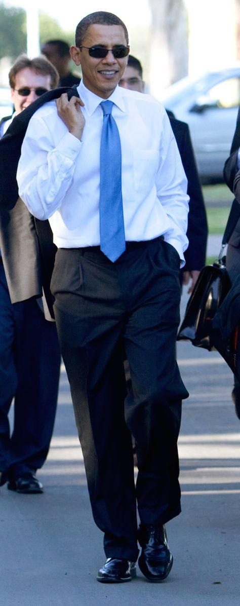 President Obama departs an event at the Costa Mesa Town Hall, California, March 18, 2009 (Photo by Pete Souza)