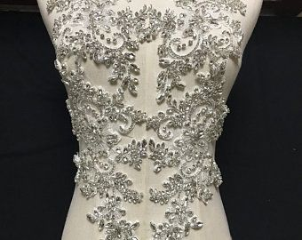 2 0cm To 8 0cm Crystal Sequins Beaded Colorful Flower Applique Etsy Rhinestone Appliques Bodice Applique Stunning Prom Dresses