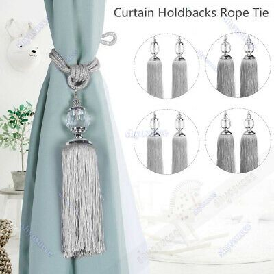 Details About 1 2pcs Curtain Holdbacks Rope Tie Backs Tassel
