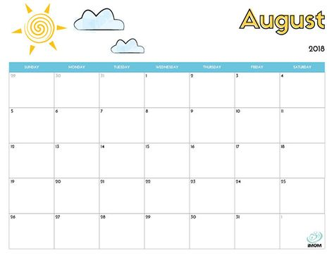 2020 Printable Calendar For Kids Kids Calendar August Calendar