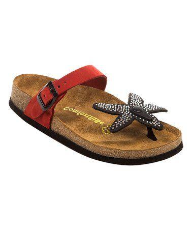 Womenzulily Black Sandal 83Redamp; Starfish Leather iOXZuPkT