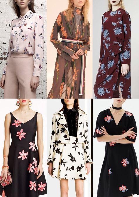 03-Pre-AW1617-Print-Trends-Sparse-Florals - Rebecca Taylor / Topshop Unique / Rochas / Kate Spade / Carolina Herrera / Sachin + Babi