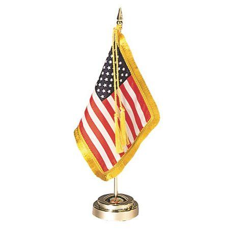 Envoy U S Flag Desk Display Set Flag Settings Display