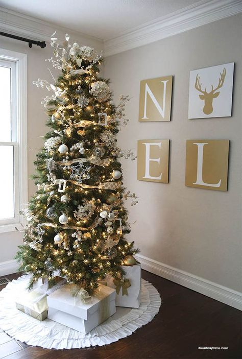 Beautiful Christmas Tree Decorations Ideas Gold Christmas Tree Gold Christmas Beautiful Christmas