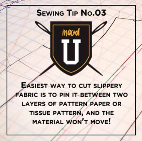 #Moodsewingtip how to work with slippery fabrics!