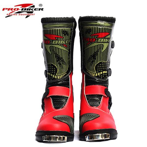 SPEED PRO-BIKER Motorcycle Boots Off-Road Racing Shoes Leather Gear