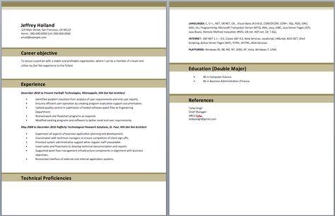 dot net architect resume