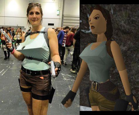 Lara Croft (as I remember her) cosplay