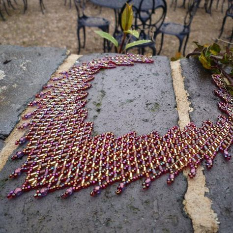 Staircase Necklace Beadwork Pattern/Tutorial by BearlyBeaded