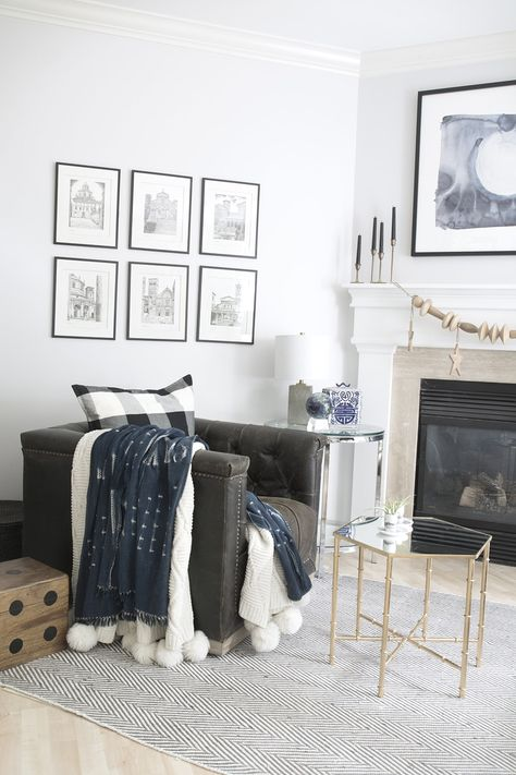 Neutral Living Room with a Boho Touch | Living room decor ...