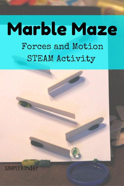 Marble Maze Kindergarten Steam Activity Simply Kinder Kindergarten Steam Activities Kindergarten Steam Steam Activities