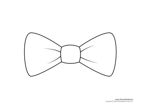Free Drawing Patterns To Trace Bow Tie Template Tie Template