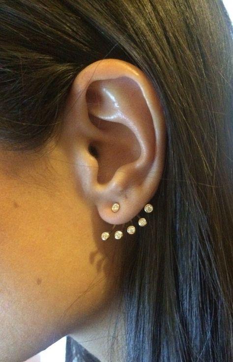 ad4e7bd9f Swarovski Ear jacket Earrings / Ear jacket Earrings / Minimalist Ear Jacket  / Gold Ear Cuff / Fashion Ear Jacket/ Fan Shaped Earring