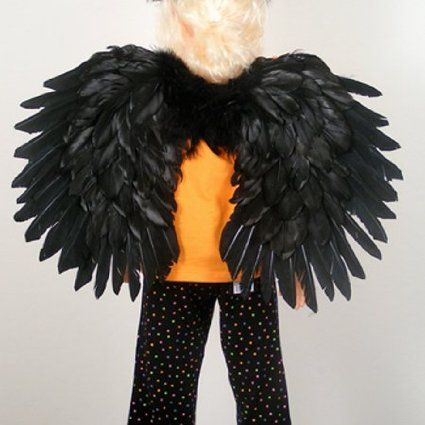 FashionWings Children/'s White Feather Angel Wings Duo Use Pointing up or TM