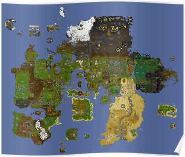 Old School Runescape - Map | Poster | Old school runescape ...