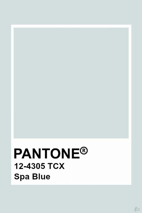 Pantone Spa Blue
