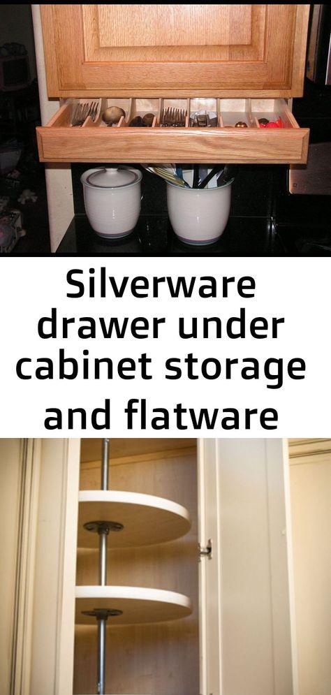 Silverware Drawer Under Cabinet Storage And Flatware Etsy Kitchencabinetdesign Corner Kitchen Cabinet S Under Cabinet Storage Storage Cabinets Under Cabinet