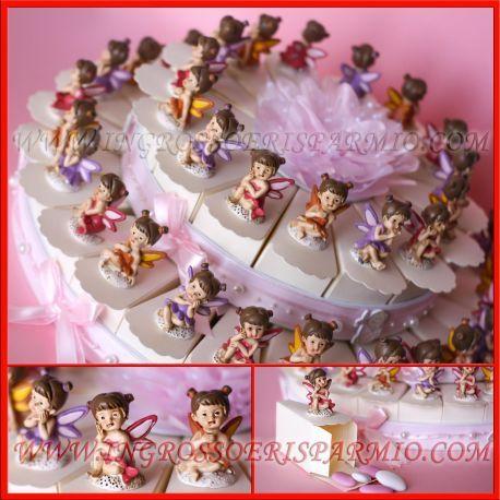 Torta Bomboniere Fatine Comunione Complete Resina Super Prezzo Economiche Online Battesimo Bomboniere Torte Torta Colorata