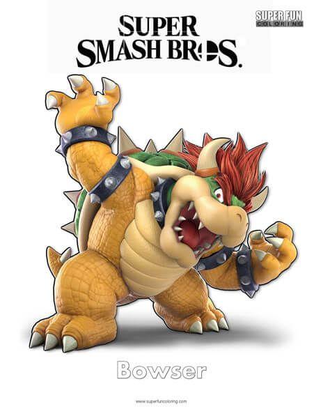 Bowser Super Smash Bros Ultimate Nintendo Coloring Page Super Smash Brothers Smash Brothers Smash