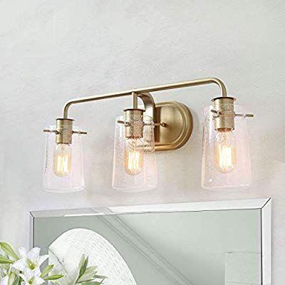 Ksana Gold Bathroom Light Fixtures 3 Lights Vanity Light Fixture