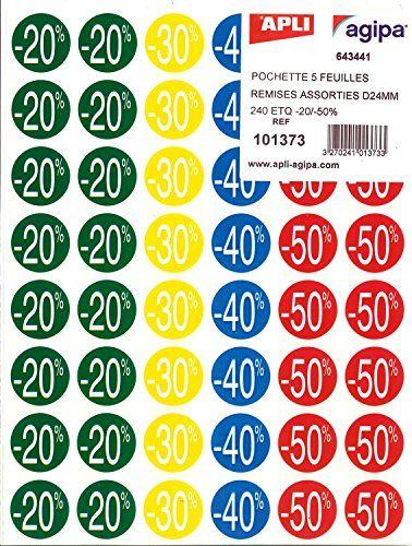 Agipa Pochette De 240 Pastilles Remises 20 A 50 O 37 5 Mm Pochette Soldes Et Fourniture Bureau