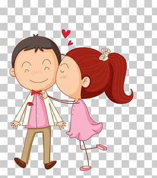 Chica Besando A Un Chico En La Mejilla Beso De Dibujos Animados Pareja De Dibujos Animados Png Ilustración De Beso Ilustraciones De Chicas Caricatura De Bebé