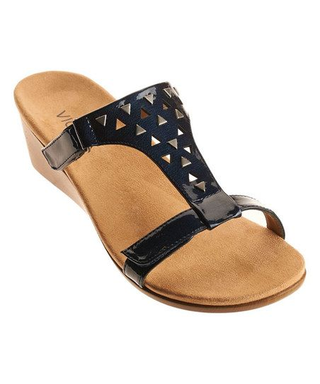 4ed59c1ccdba Vionic with Orthaheel Technology Navy Maggie Sandal - Women