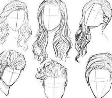 Hair Reference Drawing Hair Reference Hair Hair Reference Hair Reference Drawing Hair Reference Female Hair Re In 2020 How To Draw Hair Drawings Face Shapes