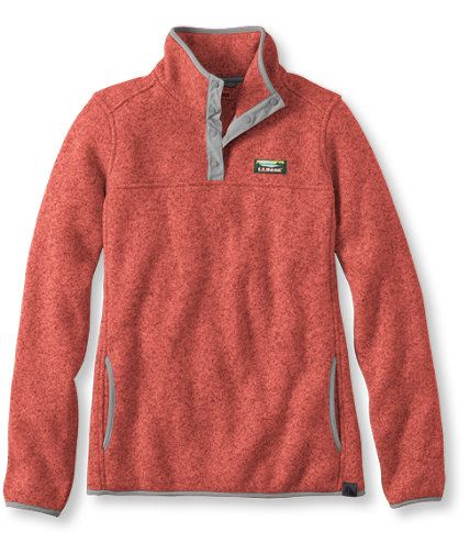 Bean's Sweater Fleece Pullover: Fleece Tops and Sweatshirts | Free ...