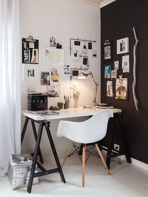 10 bureaux scandinaves en noir et blanc