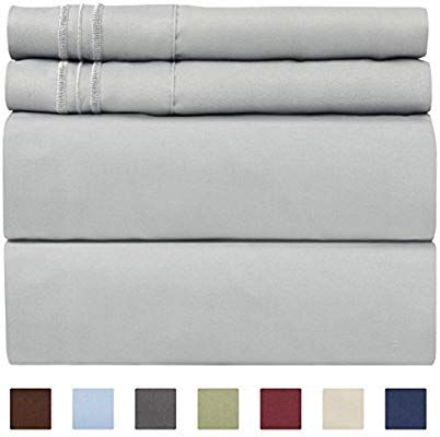 Sweet Home Collection Bed 6 Piece 1500 Thread Count Deep Pocket